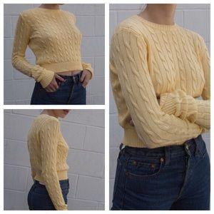 brandy melville yellow olsen sweater